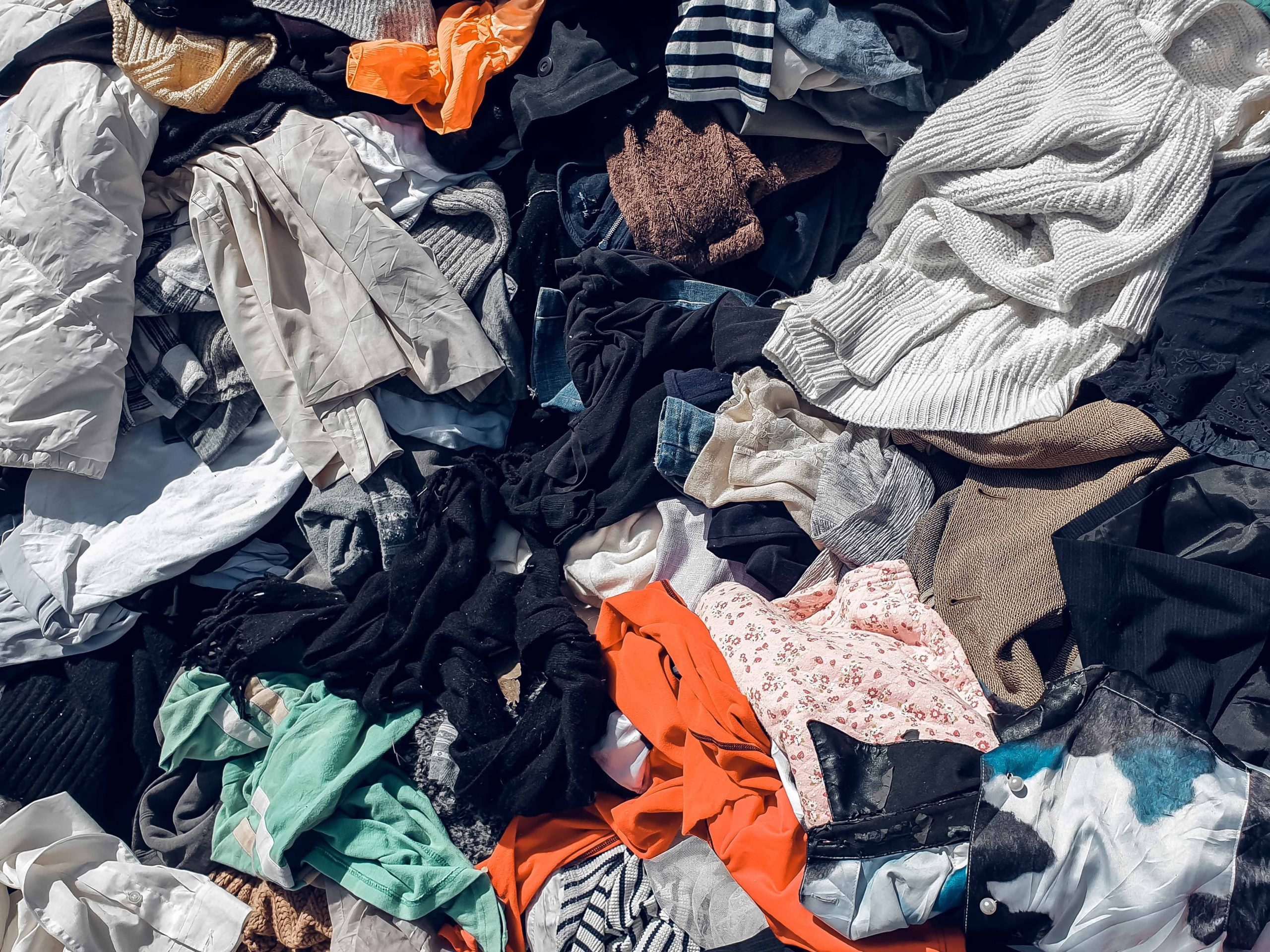 Pile of Clothes in Trash