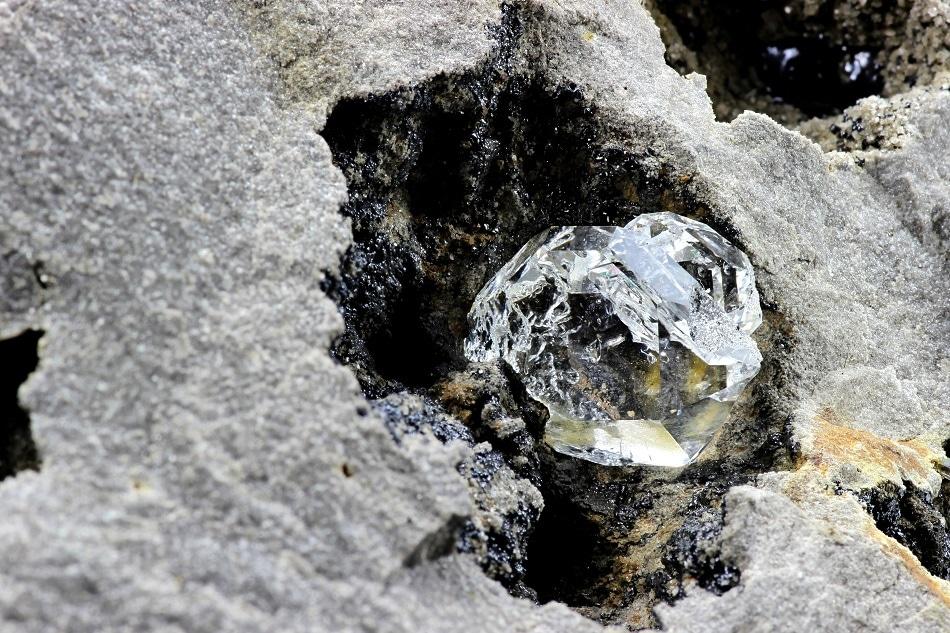 Rare Earth Diamond in Rock Formation