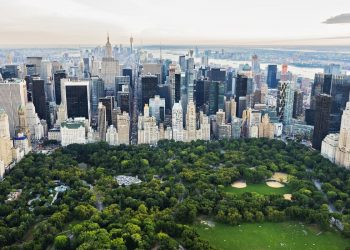 aerial view of central park new york green space